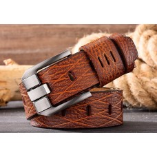 CROSSTEN Genuine Cowskin Leather Belt Light Brown with Pin Buckle (Size : 3.8 x 125cm) MGB006 - No DC