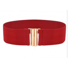 Woman Wide Elastic Belt Width 60mm Red - Out of Stock