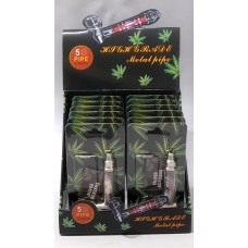 Smoking Metal Pipe 74mm JL-172 (12ea/Display Box)
