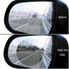 Passenger Car Sideview Mirror Anti-Fog and Anti-Moisture Protective Round Film Dia. 80mm 2 pcs (10ea/pack)