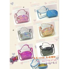 Cosmetic Bag Pattern CB2006 (2pcs/set) - (Mixed color 6 set/Pack)