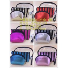 Cosmetic Bag Strife CB3003 (3 pcs/Set) - (Mixed color 6 Set/Pack)