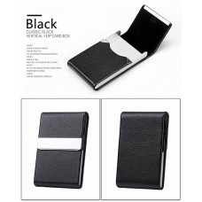 Credit Card Case Metal Wallet PU Leather Aluminum Black CC005