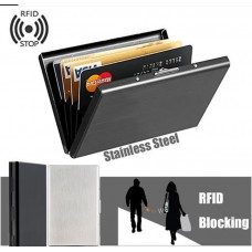 Credit Card Case RFID Protection Stainless Steel  Black CC004
