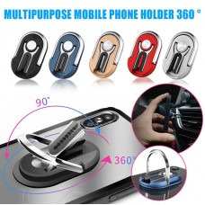Multi Purpose Mobile Phone Finger Holder with Car Ventilation hanging and with Stand Function (Mxed Color 12ea/Pack)