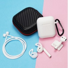 Airpod 6 in 1 White Silicone Case Set with Case