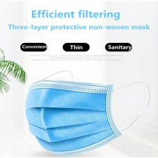 Disposable Face Mask 3-Layer Filter (Size 17.5 x9.5cm)  (50ea/Inner Box) - No DC - Out of Stock