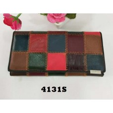Temali Genuine Leather Color-Patched Long Walllet 4131S