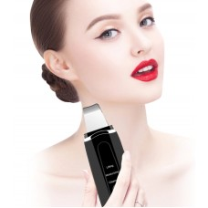 Ultrasonic Ion Skin Scrubber Device to Remove Dirt Blackhead and to Reduce Wrinkles and Spots Deep - No DC