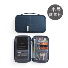 Travel Passport Organizer Blue Small (21.5 x 12.5  x 2cm) - No DC