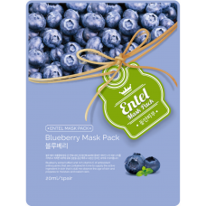 Face Mask Entel Blueberry (No DC) 10 ea/Pack