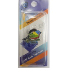 Birdie Golf Ball Marker Magnetic with Hat Clip (6ea/Pack)