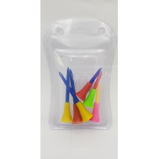 Rubber Golf Tee Multi-color 2 Size ( 83mm x 3 ea/ 56mm x 3ea) Mixed  (6ea/Pack)