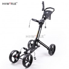 Foldable 4 Wheel Golf Trolley with Umbrella Stand GF4001 (No DC)