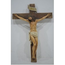 Jesus with Cross Wall-Hanging Type 30cm Height - No DC