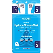 Face Mask CRACARE 3 Step Hyaluron Essence Mask (10ea/Pack)  NO DC