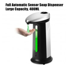 Touchless Sensor-Activated Liquid Soap Dispenser 400ml Black