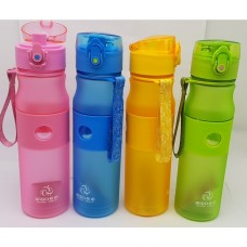 Sports Leak-Proof Water Drink Bottle 500ml BPA Free with One-Touch Pop-up Lid (4ea/Pack Random Color) - No DC - Out of Stock