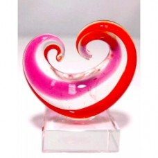 Glass Art Koru Curling--Red and Pink 3pcs/Set Small (5.0x4.2cm) (NO DC)