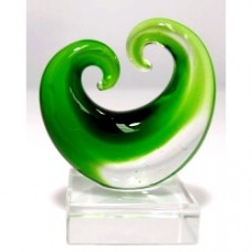 Glass Art Koru Curling--Green 3pcs/Set Small (5.0x4.2cm) (NO DC)