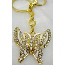 Key Rings White Butterfly (4X3.5cm) (NO DC)