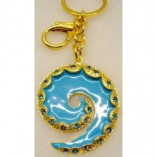 Key Rings Blue Koru (4.8X4cm) (NO DC)