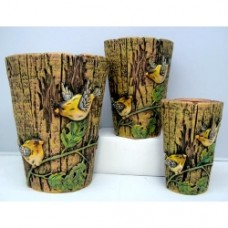 Pottery Flower Pot Bird Pot 3pcs/set 7002 (NO DC)
