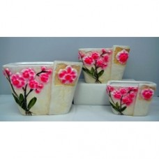 Pottery Flower Pot 3pcs/set 7005 (NO DC)