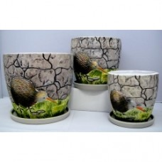 Pottery Flower Pot Kiwi Pot 3pcs/set 7009 (NO DC)