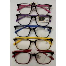 Reading Glass 2 Tone Color 1.0 <2T001> / 5 Color Mixed (20ea/Box) -No DC - Out of Stock
