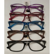 Reading Glass with the Retractable Spring  1.0 <SCP001> / 5 Color Mixed (20ea/Box) -No DC - Out of Stock