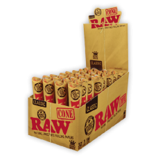 RAW 110mm Paper Cone  3 Paper Cone/ Tube (32 Tube / Display Box) - ($0.70/Tube)