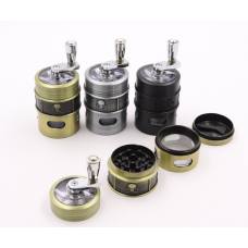 Grinder Skeleton 4 Stage  with Rotating Handle <Dia. 42mm Height 84mm>  (12ea/Display Box)